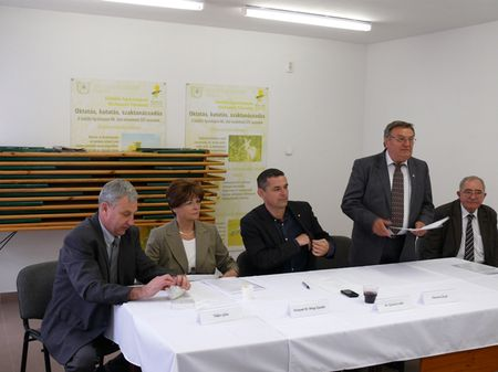 Takács Géza, Ertseyné dr. Peregi Katalin, Dr. Gyuricza Csaba,  Vancsura József, Dr. Bódis László