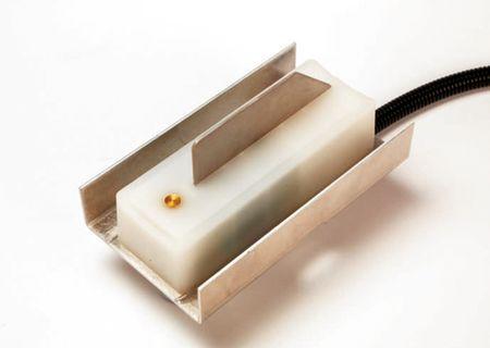 A nedvességmérő szenzor a magfelhordó csiga kiömlő nyílásánál kerül elhelyezésre