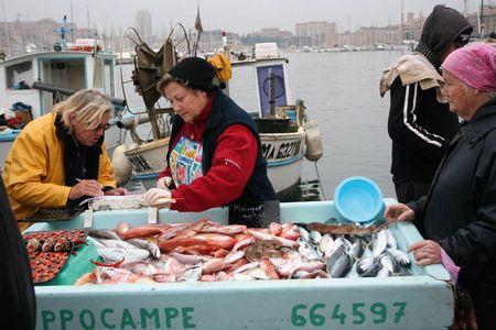 Igazi halpiac Marseille régi kikötőjében