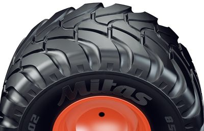 Mitas Agriterra tread features larger tread voids, improving the self-cleaning properties of the tyre. Mitas 2015