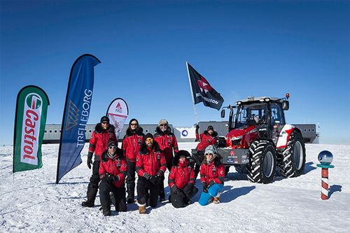 Antarctica 2 : Mission accomplished! The Antarctica2 tractor expedition team reached the South Pole on 9 December 2014. Now Massey Ferguson has developed an MF 5610 Antarctica2 Special Edition tractor for those who want to secure their own example of this extraordinary piece of 21st century farm machinery history.