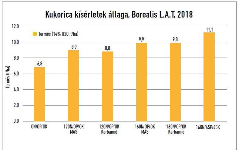 borealis-lat-kukorica-kiserletek