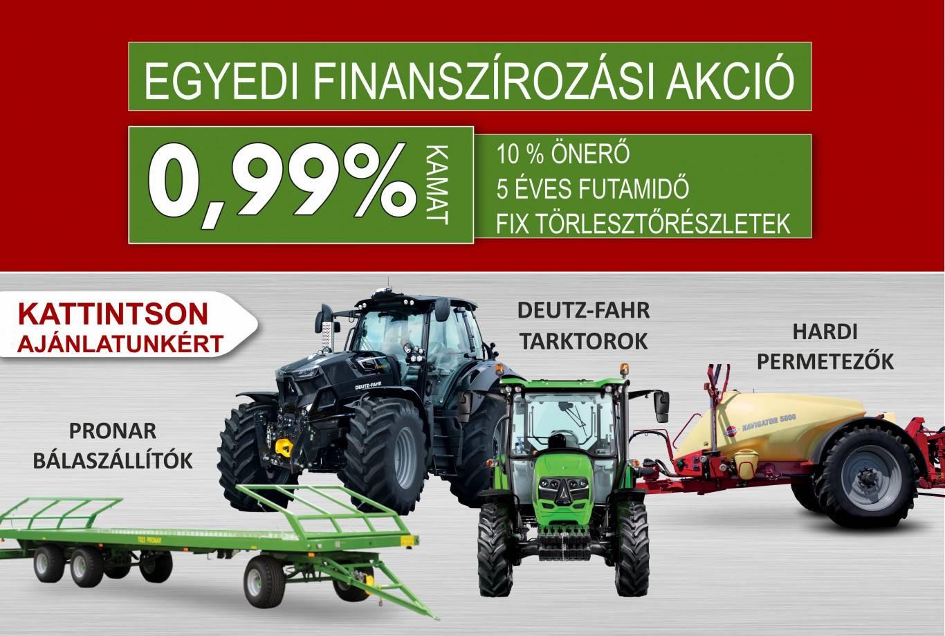 agronapló október 0,99% kamat akció